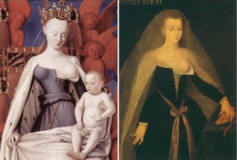 Агнесса Сорель ввела в моду платья с открытой грудью